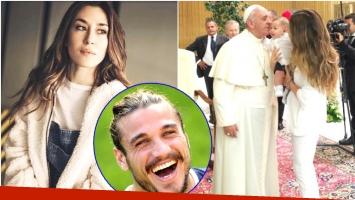 Jimena Barón recordó el papelón que pasó años atrás, cuando fue a ver al Papa junto a su hijo Momo (Fotos: Instagram y Web)