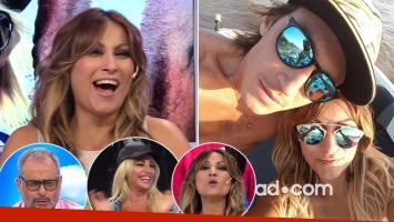 Marcela Tauro y el pícaro besito que le mandó a su novio por TV