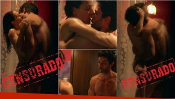 Eleonora Wexler y Mariano Martínez en una escena súper hot en la ducha de ADDA