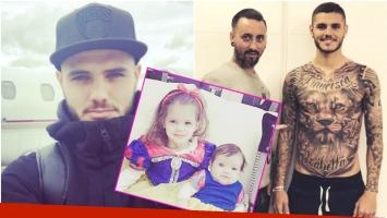 El extremo tatuaje de Mauro Icardi dedicado a sus hijas Francesca e Isabella (Fotos: Instagram)