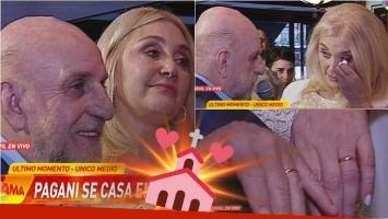 Horacio Pagani y Cecilia Di Carlo se casaron en vivo en Infama. Foto: Captura