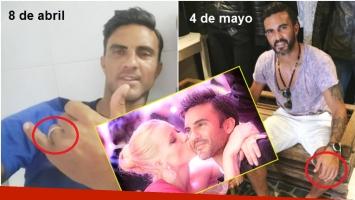 Las fotos de Fabián Cubero sin la alianza de casamiento (Fotos: Instagram)