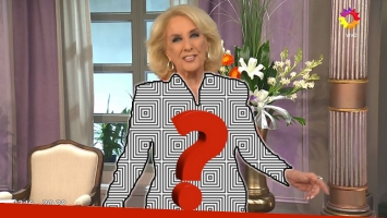 El singular look de Mirtha Legrand.