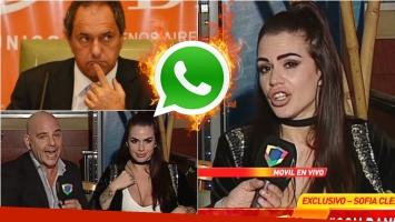 La insólita justificación de Sofía Clerici sobre los chats y video hot que le mandó a Daniel Scioli. Foto: Captura/ Web