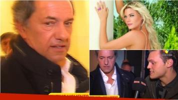 Mirá la reacción de Daniel Scioli a la salida del ciclo político de Rial cuando le preguntaron por las tremendas declaraciones de Gisela Berger. Foto: Captura/ Web