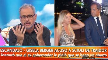Fuerte editorial de Rial tras su nota a Scioli y el escándalo con Gisela Berger