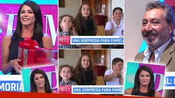 El tierno video familiar para Pamela David en su nuevo programa