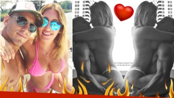 La nueva foto de Ayelén Paleo, súper fogosa y en topless con su novio (Fotos: Instagram)