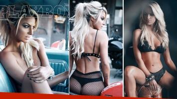 Ailén Bechara, súper sexy en una producción de fotos (Fotos: revista Playboy)