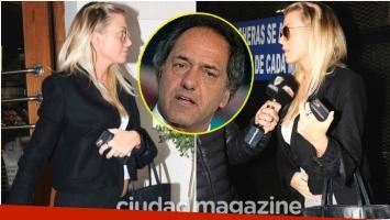 Gisela Berger mostró por primera vez su pancita de embarazada tras el escándalo con Daniel Scioli (Fotos: Movilpress)