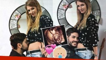 Nicolás Magaldi, producción súper tierna junto a su novia, embarazada de cuatro meses (Foto: revista Gente)