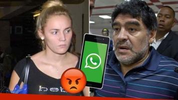 El nuevo ¡y escandaloso! audio que Rocío Oliva le mandó a Diego Maradona
