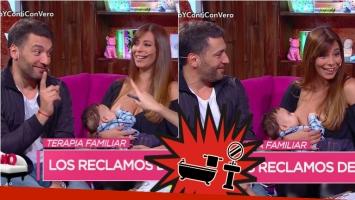 La queja doméstica de Gustavo Conti a Ximena Capristo sobre sus baños separados… ¡y su hijo tomó la teta en vivo! Foto: Captura