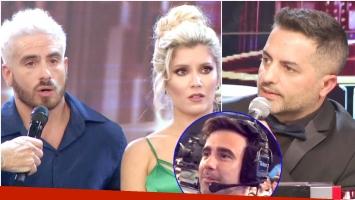 La incómoda pregunta de Ángel de Brito a Fede Bal delante de Laurita Fernández en ShowMatch (Fotos: Captura)
