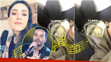 El video de Lorenzo Tinelli cantando Despacito (Fotos: Captura y Captura de Instagram Stories)
