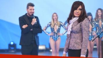 Martín Bossi se puso en la piel de Cristina Fernández de Kirchner y divirtió a todos con su sketch (Foto: Prensa Ideas del Sur)