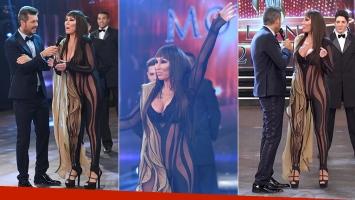 Moria Casán sorprendió con un jugadísimo vestido en ShowMatch (Fotos: Captura)