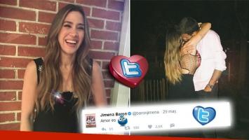 ¡Qué gesto! El pícaro tweet de Jimena Barón sobre su romance con Delpo
