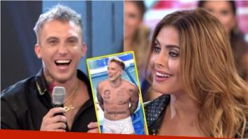 El Polaco contó en ShowMatch el chiste hot que le hizo Silvina Luna sobre su sunga en el aquadance