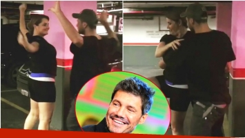 Nancy Pazos ensayó para el Bailando... ¡en un estacionamiento! (Fotos: Captura y Web)