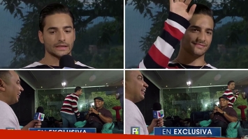 Así fue como Maluma se fue en vivo de una entrevista