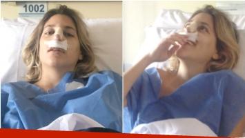 Las fotos de Marian Farjat, recién salida del quirófano, tras operarse de la nariz (Fotos: Twitter)
