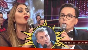 El cruce de Silvina Luna con Marcelo Polino en Bailando 2017. Foto: Captura