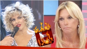 La Chipi, enojada con Yanina Latorre en su debut en Bailando 2017 (Fotos: Captura y Web)