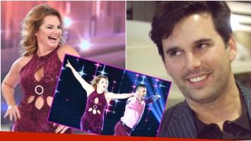 Nancy Pazos debutó en Bailando 2017... ¡y su novio la miró desde el bar del estudio! (Fotos: Prensa Ideas del Sur y Captura)