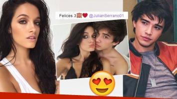 Oriana Sabatini celebró un año más de amor con Julián Serrano