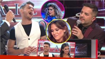 Ángel de Brito le recordó a Gastón Soffritti sus ex Laurita Fernández y Barbie Vélez en el debut de Bailando 2017