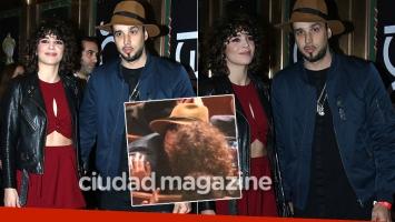 Dante Spinetta blanqueó su romance con Cala Zavaleta en los Premios Gardel (Fotos: Movilpress)
