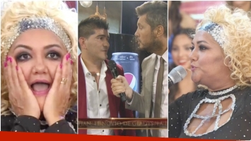 Marcelo Tinelli presentó al novio de Gladys La Bomba Tucumana en su debut en Bailando 2017 (Fotos: Captura)