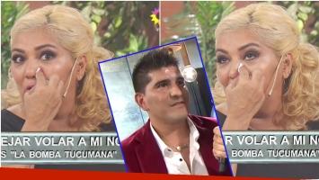 Gladys La Bomba Tucumana se quebró en vivo al hablar de la diferencia de edad con su novio de 28 años (Fotos: Captura)