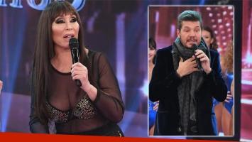 Moria Casán luego de reemplazar a Marcelo Tinelli en ShowMatch por su problema de salud en vivo