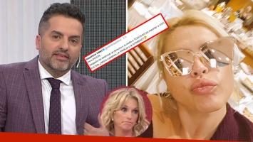 El cruce entre Ángel de Brito y Nazarena Vélez por el escándalo entre Diego Latorre y Natacha Jaitt