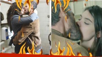 La primera escena de sexo entre Eva de Dominici y Germán Palacios en La fragilidad de los cuerpos (Fotos: Prensa eltrece y Captura)
