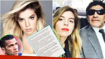 El enojo de Dalma Maradona con Dani Alves tras criticar a su papá (Fotos: Web)