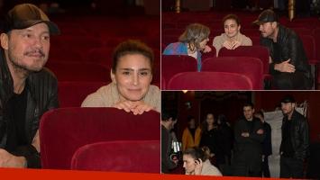 Valeria Bertuccelli recibió en el set de La reina del miedo a Marcelo Tinelli (Fotos: prensa)