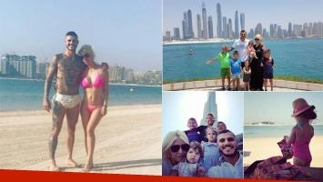 Las lujosas vacaciones familiares de Wanda Nara y Mauro Icardi en Dubai (Foto: Instagram)