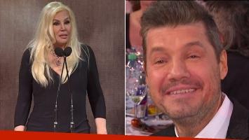 El divertido 'tirón de orejas' en vivo de Susana a Tinelli al recibir su Martín Fierro por sus 30 años en TV
