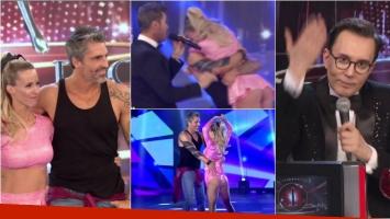 Rocío Guirao Díaz y Nicolás Paladini bailaron cumbia en ShowMatch... ¡y Polino les puso un tremendo uno!
