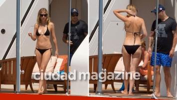 Gwyneth Paltrow en bikini durante sus vacaciones en Saint Tropez. Foto: Grosby Group - Ciudad