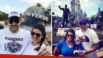Diego Brancatelli y Cecilia Insinga se fueron a Disney con su hijo Valentín. (Foto: Instagram)