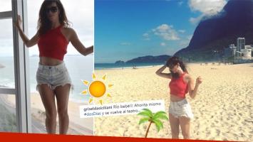 La escapadita playera de Griselda Siciliani a Río de Janeiro (Foto: Instagram)