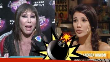Moria Casán, furiosa con Andrea Rincón: