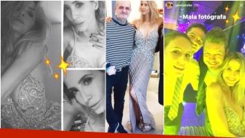 El look súper sexy de Guillermina Valdes en el casamiento de Lionel Messi y Antonela Roccuzzo (Fotos: Instagram e Instagram Stories)