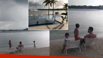 El video de la luna de miel de Lionel Messi y Antonela Roccuzzo junto a sus dos hijos