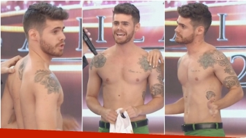 Gastón Soffritti peló lomazo en ShowMatch (Fotos: Captura)
