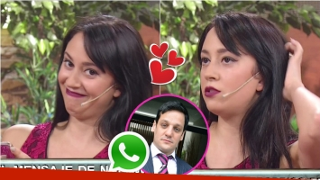 Nai Awada leyó el mensaje de WhatsApp con el que le declaró su amor a Rodrigo de la Serna. Foto: Captura